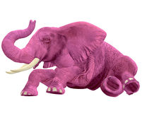 Pink Elephant - 06. This pink elephant is so drunk he can't stand up Royalty Free Stock Photos