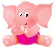 Pink elephant Stock Image