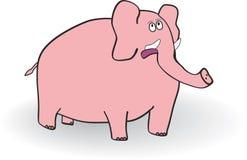 Pink elephant. Pink Astonished elephant. Vector illustration Stock Photo
