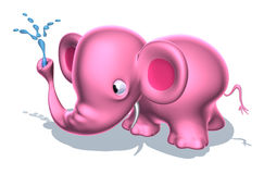 Pink elephant Royalty Free Stock Image