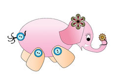 Pink Elephant Royalty Free Stock Images