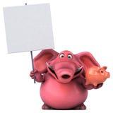 Pink elephant - 3D Illustration Stock Photography