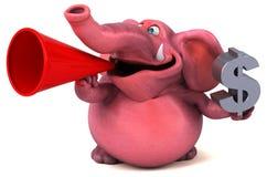Pink elephant - 3D Illustration Royalty Free Stock Photos