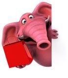 Pink elephant - 3D Illustration Stock Photos