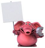 Pink elephant - 3D Illustration Stock Image
