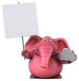 Pink elephant - 3D Illustration Royalty Free Stock Photos
