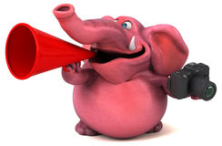 Pink elephant - 3D Illustration Royalty Free Stock Images