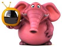 Pink elephant - 3D Illustration Royalty Free Stock Image