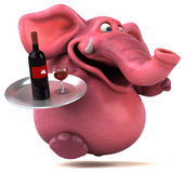 Pink elephant - 3D Illustration Royalty Free Stock Photography