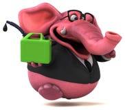 Pink elephant - 3D Illustration Stock Photo