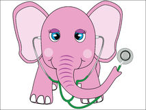 Pink elephant doctor Royalty Free Stock Image