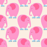 Pink Elephant seamless pattern. Background of circus animal with Royalty Free Stock Photo