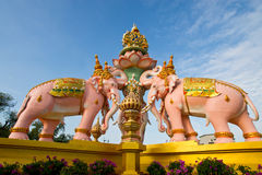 Pink Elephant statue Stock Images