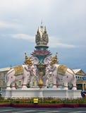 Pink elephant statue Stock Photo