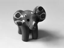 PINK ELEPHANT TOY. BLACK AND WHITE PHOTO OF PINK ELEPHANT TOY royalty free stock image