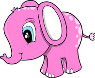 Pink Elephant Vector Illustration Royalty Free Stock Images