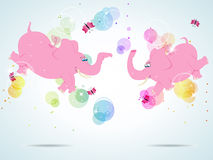 Pink elephants Royalty Free Stock Photos
