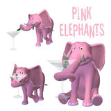 Pink Elephants Stock Photo