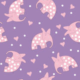 Pink elephants and hearts Royalty Free Stock Photo