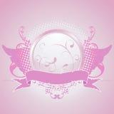 Pink emblem, design element Royalty Free Stock Image