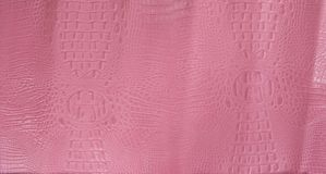 Pink Embossed Gator Leather Texture Stock Photography