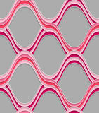 Pink embossed interlocking wavy lines Stock Photography