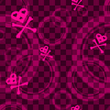 Pink Emo seamless pattern with circles Royalty Free Stock Images