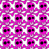 Pink Emo Skeletons Seamless Background Stock Photo