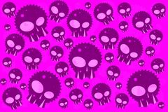 Pink Emo Skulls. Background For Posters or Webs Royalty Free Stock Photography