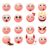 Pink emoticons Stock Image