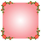 A pink empty border template with flowers Royalty Free Stock Photography