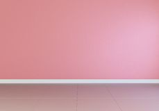 pink empty interior, front view, glossy floor Royalty Free Stock Photo