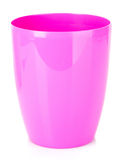 Pink empty plastic flower pot Royalty Free Stock Images