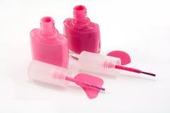 Pink enamel. Isolated on white Royalty Free Stock Photos