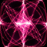 Pink energy. Pink electric energy - abstract fractal Stock Photo