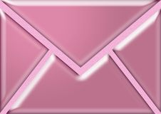 Pink envelope Royalty Free Stock Photography