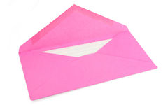 Pink envelope. Concept of communication royalty free stock images