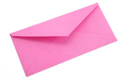Pink envelope. Concept of communication stock images
