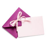 Pink envelope with card Royalty Free Stock Photo