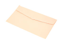 Pink envelope isolated on white Stock Photography