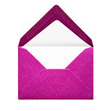Pink envelope. Isolated on white background. Object with clipping path royalty free stock photo