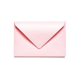 Pink envelope. Light pink envelope isolated on white background. Object with clipping path stock images