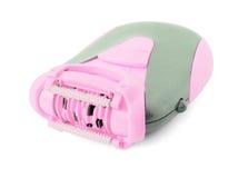 Pink epilator. Pink electric epilator isolated on white Royalty Free Stock Photo