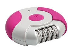 Pink epilator. Isolated on a white background Stock Photo