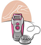 Pink epilator Royalty Free Stock Image