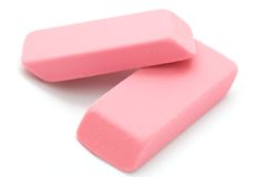 Pink Erasers Stock Photography