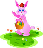 Pink Ester Bunny Royalty Free Stock Images