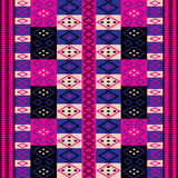 Pink ethnic motifs Stock Photos