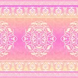 Pink ethnic pattern stock illustration