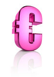 Pink Euro Currency Symbol Stock Photos